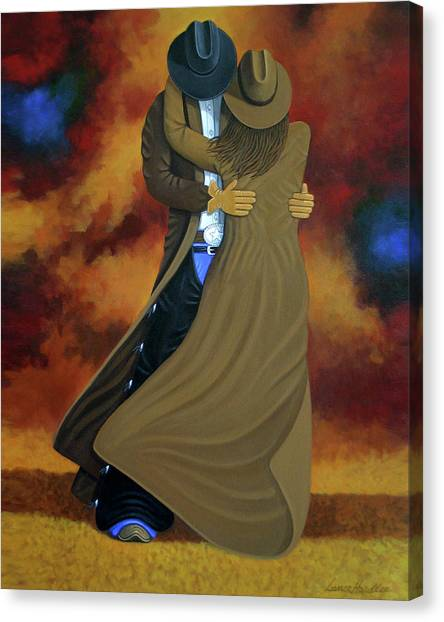 American Painters Canvas Print - Lean On Me by Lance Headlee
