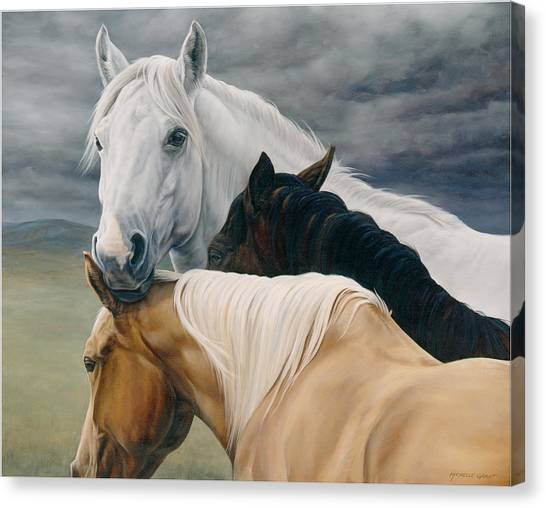 Equestrian Canvas Print - Lean On Me by JQ Licensing