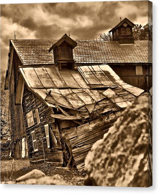 Leaning Barn Canvas Print