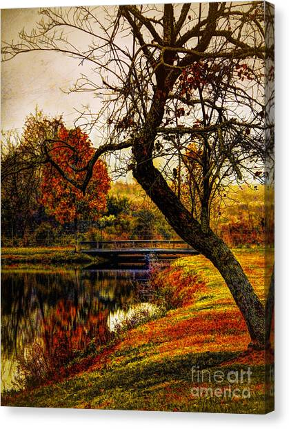 Leaning Toward Fall  Canvas Print