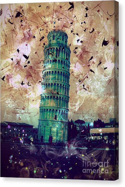 Leaning Tower Of Pisa 1 Canvas Print