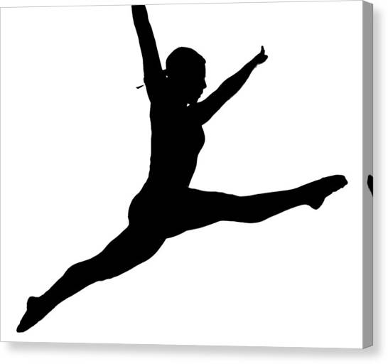 Balance Beam Canvas Print - Leap by Mike Flynn