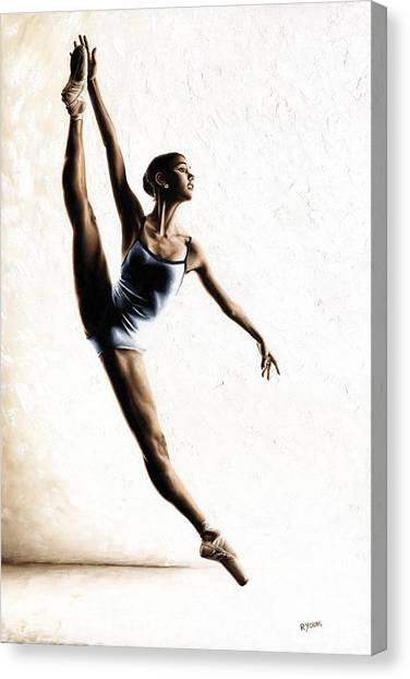 Ballerina Canvas Print - Leap Of Faith by Richard Young
