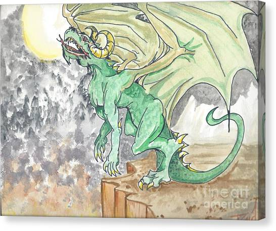 Leaping Dragon Canvas Print