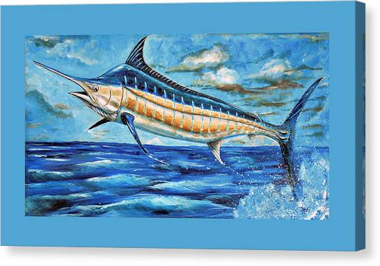 Leaping Marlin Canvas Print