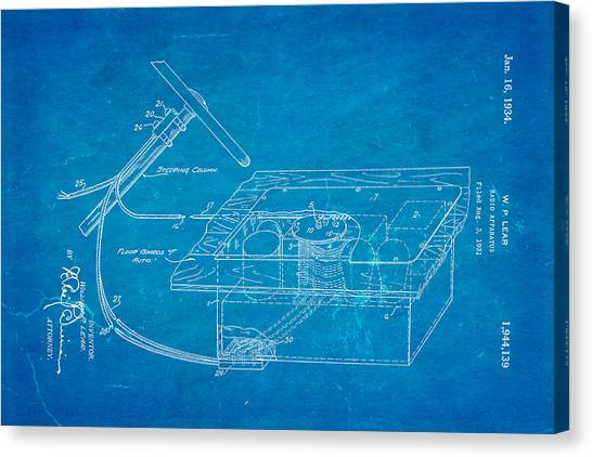 Vintage radio canvas prints page 4 of 21 fine art america vintage radio canvas print lear motorola car radio patent art 1934 blueprint by ian monk malvernweather Gallery