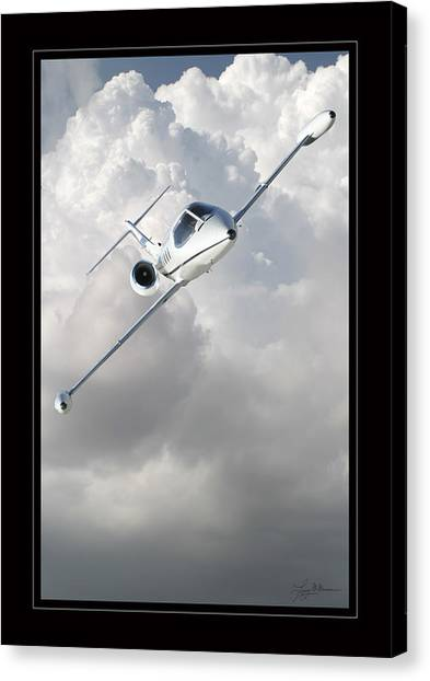 Learjet Canvas Print by Larry McManus