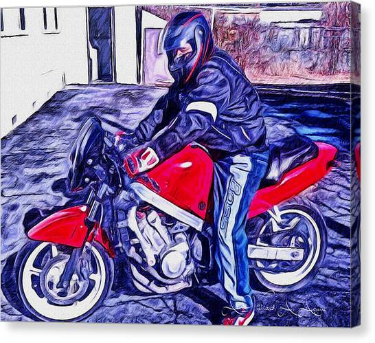 Learn How To Ride Canvas Print
