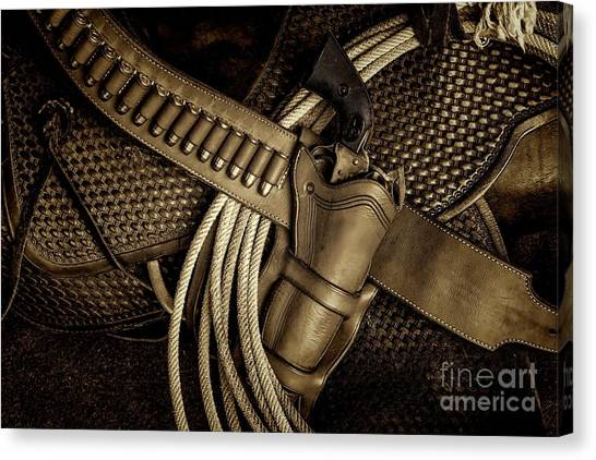 Leather And Lead Canvas Print