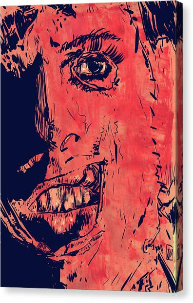 Chainsaw Canvas Print - Leatherface by Giuseppe Cristiano