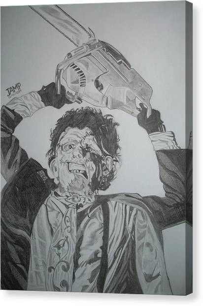 Leatherface Canvas Print by Jose Mendez