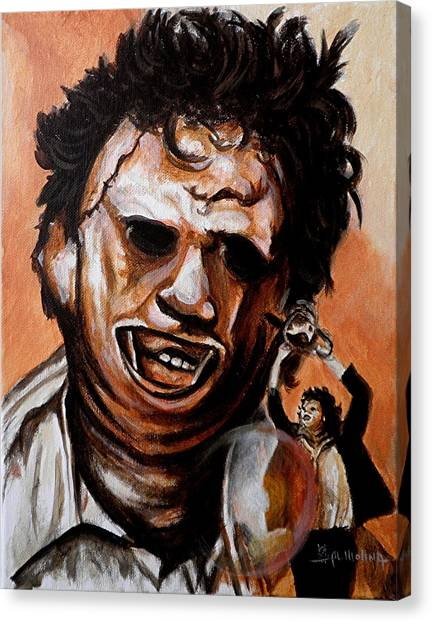 Chainsaw Canvas Print - Leatherface Unleashed by Al  Molina