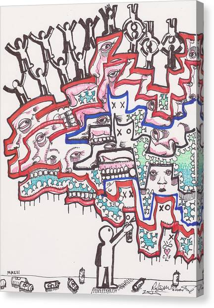 Graffiti Canvas Print - Leave A Mark by Robert Wolverton Jr