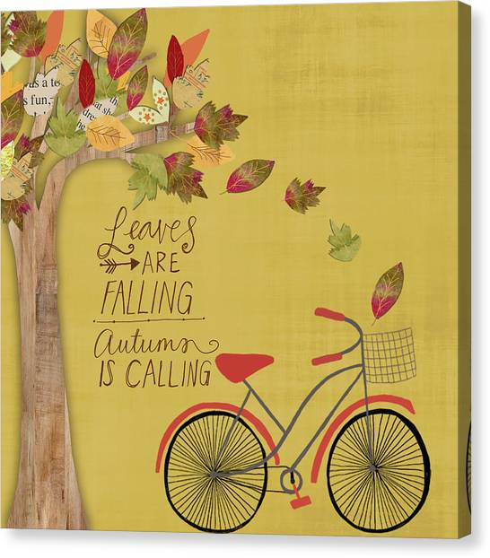 Autumn Canvas Print - Leaves Are Falling by Katie Doucette