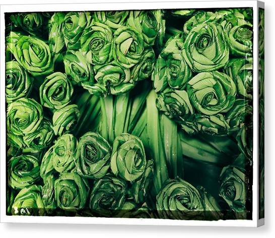 Leaves Woven Into Flowers Canvas Print by River Engel
