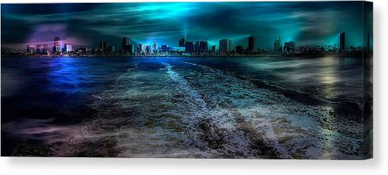 Leaving Long Beach Canvas Print