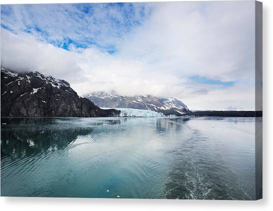 Margerie Glacier Canvas Print - Leaving Margerie Glacier by Jo Ann Snover