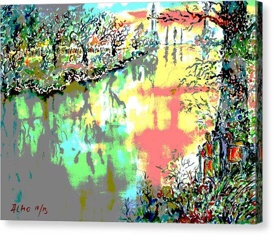 Leaving Middle Earth II Canvas Print by Almo M