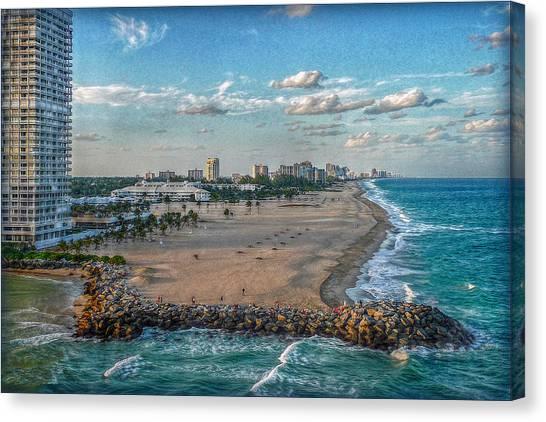 Leaving Port Everglades Canvas Print