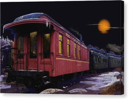 Leaving Ridgway Canvas Print