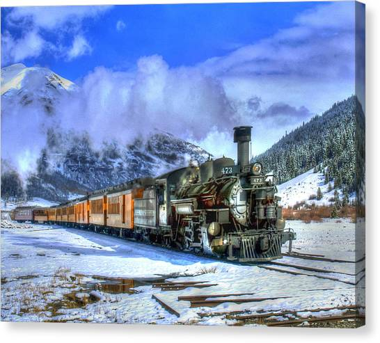 Leaving Silverton 01 Canvas Print