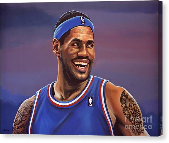 Athlete Canvas Print - Lebron James  by Paul Meijering