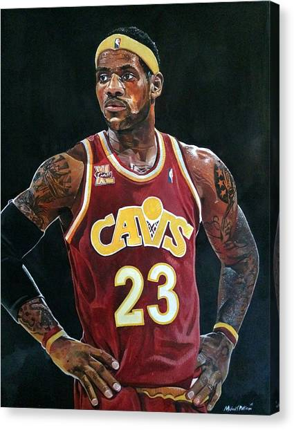 Dwayne Wade Canvas Print - Lebron James Returns To The Cleveland Cavaliers by Michael  Pattison
