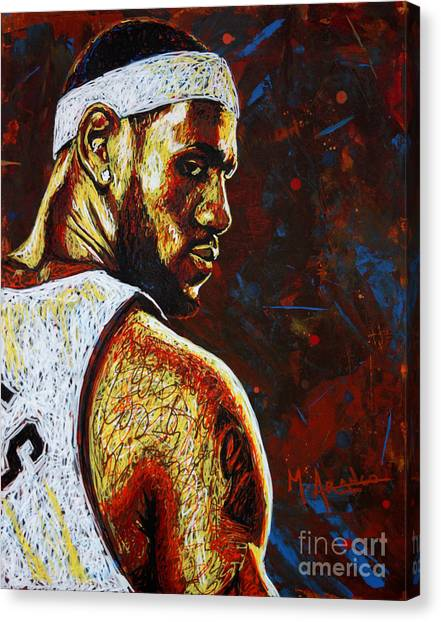 Lebron James Canvas Print - Lebron  by Maria Arango