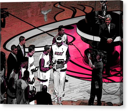Lebron's 1st Ring Canvas Print