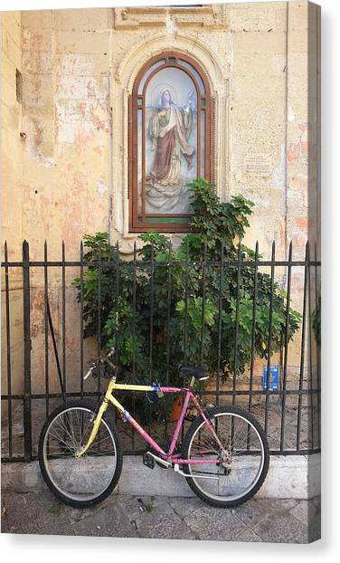 Lecce Italy Bicycle Canvas Print