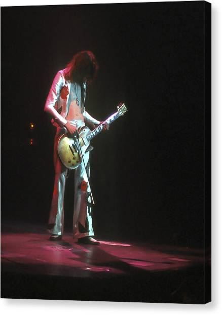 Jimmy Page Canvas Print - Led Zeppelin 3 by Joe  Gliozzo