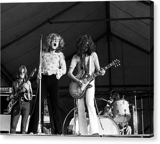 Jimmy Page Canvas Print - Led Zeppelin Bath Festival 1969 by Chris Walter