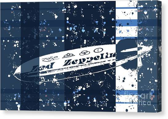 Led Zeppelin Artwork Canvas Print - Led Zeppelin Blues by RJ Aguilar