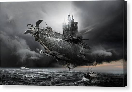 Blimps Canvas Print - Led Zeppelin Excelsior by George Grie