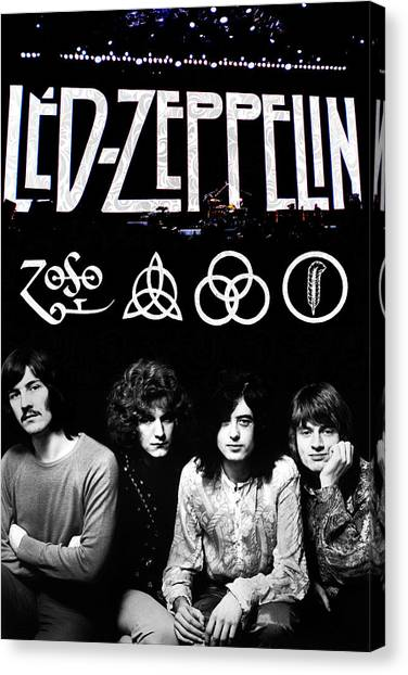 Percussion Instruments Canvas Print - Led Zeppelin by FHT Designs