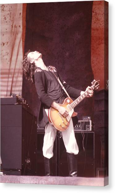 Jimmy Page Canvas Print - Jimmy Page by Ron Draper