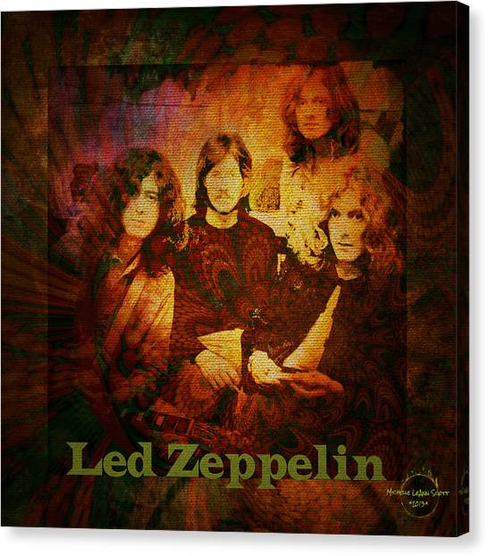 Robert Plant Canvas Print - Led Zeppelin - Kashmir by Absinthe Art By Michelle LeAnn Scott