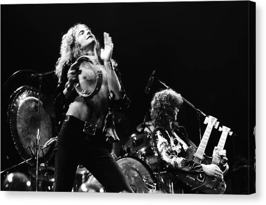 Jimmy Page Canvas Print - Led Zeppelin Live 1975 by Chris Walter