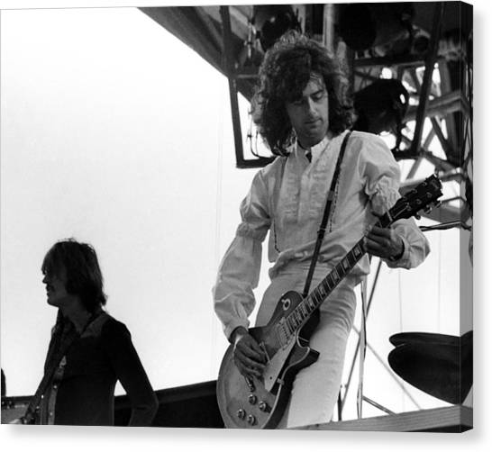Jimmy Page Canvas Print - Led Zeppelin Live by Larry Hulst