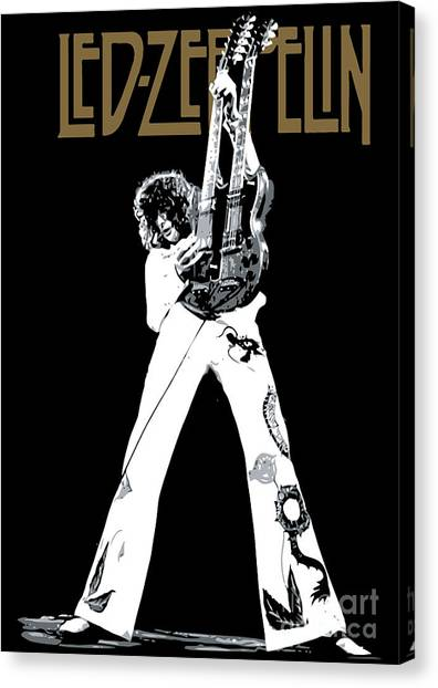 Famous Artists Canvas Print - Led Zeppelin No.06 by Fine Artist