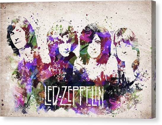Led Zeppelin Canvas Print - Led Zeppelin Portrait by Aged Pixel