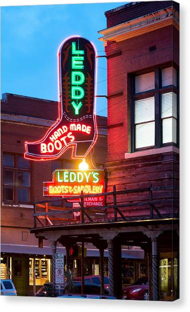 Leddy Hand Made Boots 031315 Canvas Print