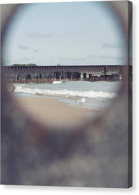 Northwestern University Canvas Print - Lee Street Beach Five by Kelly Rochleau