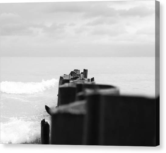 Northwestern University Canvas Print - Lee Street Beach One by Kelly Rochleau