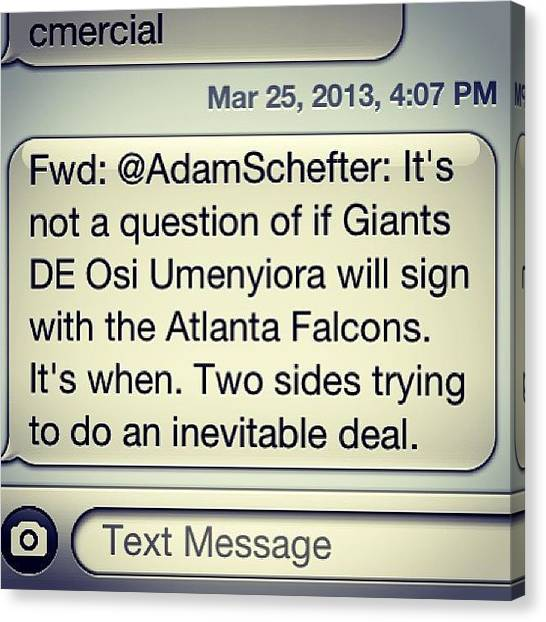 Atlanta Falcons Canvas Print - Leeeets Gooooo #atlanta #falcons by Kyle Walker