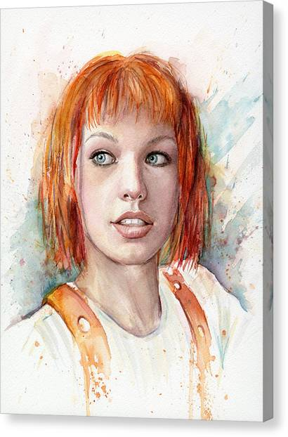 Dallas Canvas Print - Leeloo Portrait Multipass The Fifth Element by Olga Shvartsur