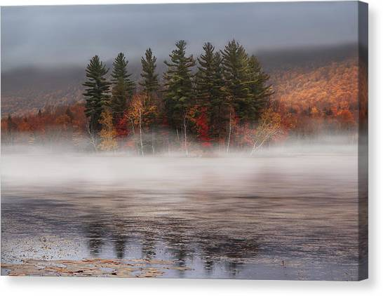Vermont Canvas Print - Lefferts Pond by Magda  Bognar