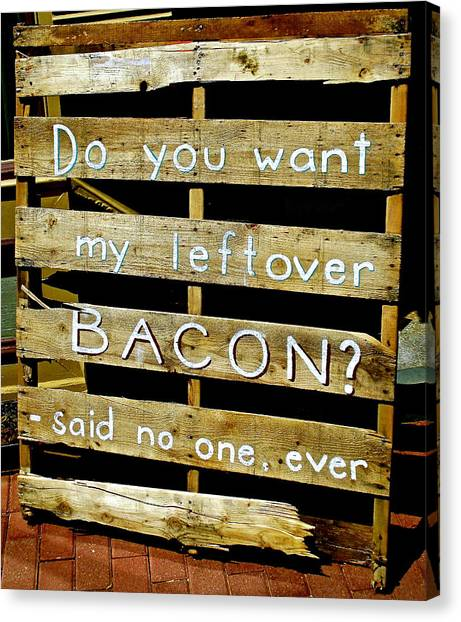 Leftover Bacon Canvas Print