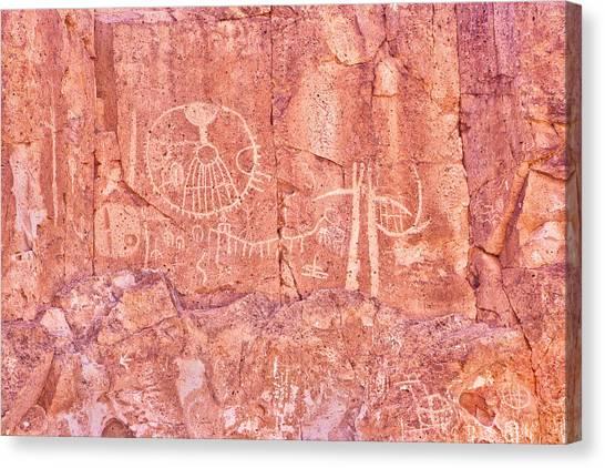 Petroglyphs Owens Valley California Canvas Print