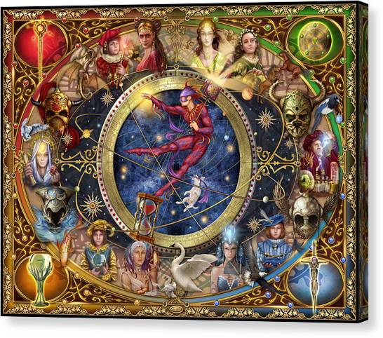 Pegasus Canvas Print - Legacy Of The Divine Tarot by Ciro Marchetti